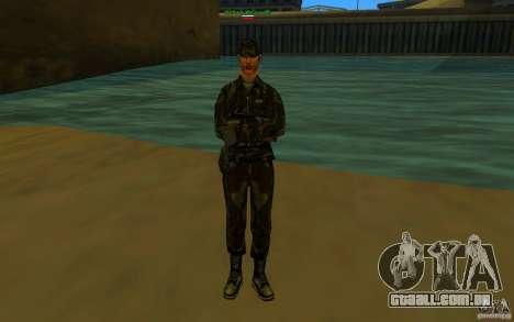HQ skin Army para GTA San Andreas por diante tela
