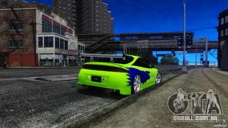 Mitsubishi Eclipse GSX FnF para GTA 4 esquerda vista