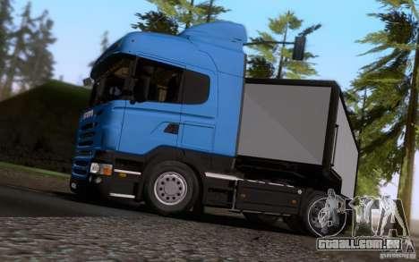Scania R500 para GTA San Andreas vista traseira
