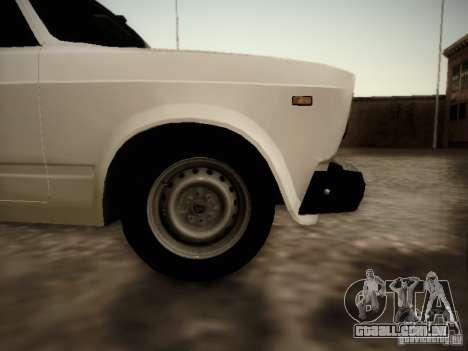VAZ-2107 v2 para GTA San Andreas traseira esquerda vista