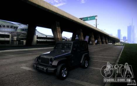 Jeep Wrangler Rubicon 2012 para vista lateral GTA San Andreas