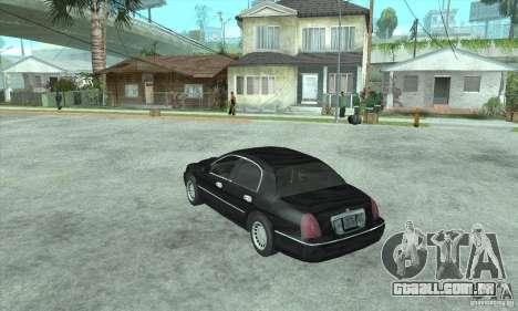 Lincoln Town Car 2002 para GTA San Andreas esquerda vista