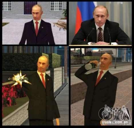 Vladimir Vladimirovich Putin para GTA San Andreas segunda tela