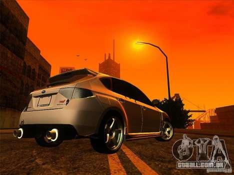Subaru Impreza WRX 2008 Tunable para GTA San Andreas traseira esquerda vista