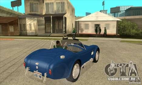 AC Shelby Cobra 427 1965 para GTA San Andreas vista direita