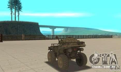Novo Atv para GTA San Andreas traseira esquerda vista