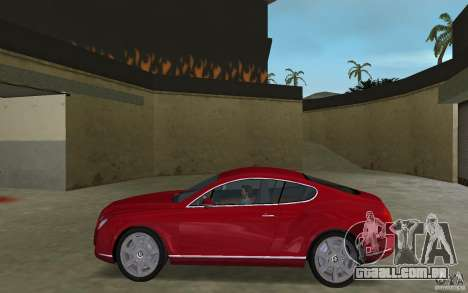 Bentley Continental GT (Final) para GTA Vice City deixou vista