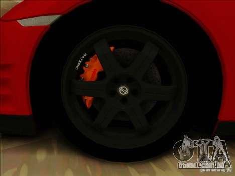 Nissan GTR Egoist 2011 para GTA San Andreas vista interior