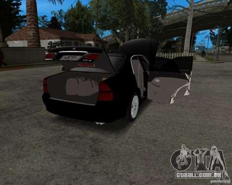 Mitsubishi Diamante para GTA San Andreas vista traseira
