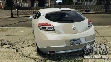 Renault Megane Coupe para GTA 4 traseira esquerda vista
