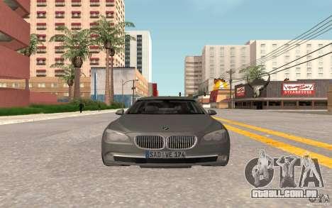 BMW 730d para GTA San Andreas esquerda vista