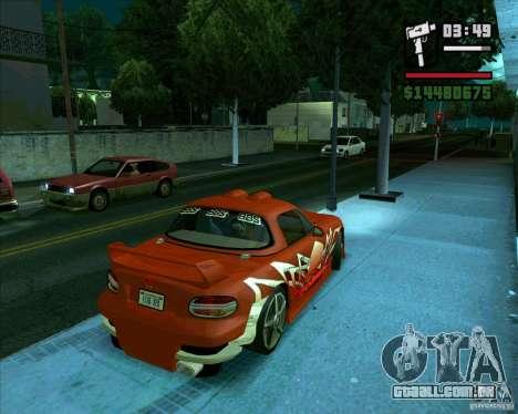 Mazda Miata Tunable para GTA San Andreas traseira esquerda vista