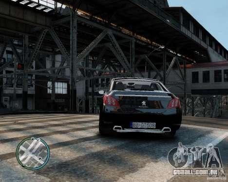 Pegeout 508 v2.0 para GTA 4 vista direita