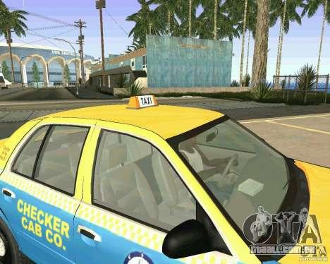 Ford Crown Victoria 2003 Taxi Cab para GTA San Andreas vista interior