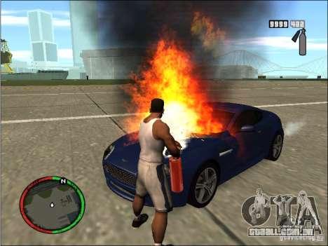 Auto extinção de um extintor de incêndio para GTA San Andreas terceira tela