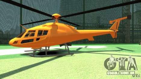 Helicopter From NFS Undercover para GTA 4 traseira esquerda vista