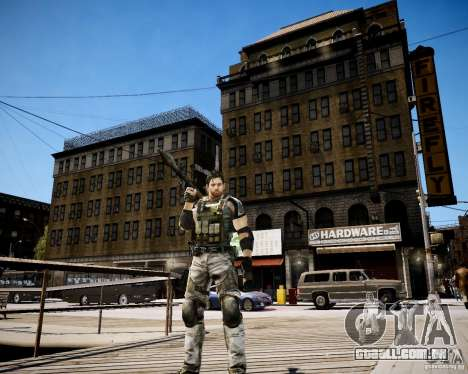 Chris from Resident Evil 5 para GTA 4 quinto tela