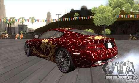 Aston Martin DB9 Female Edition para GTA San Andreas traseira esquerda vista