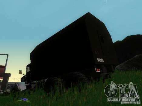 KrAZ-254 para GTA San Andreas traseira esquerda vista