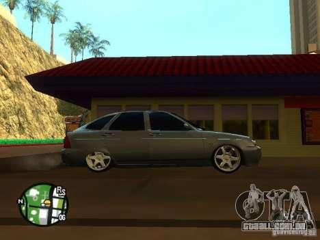 LADA Priora 2172 para GTA San Andreas vista traseira