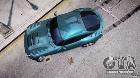 TVR Sagaris para GTA 4 vista lateral
