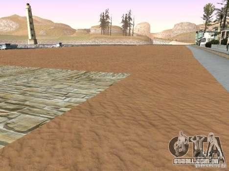 Nova praia textura v 1.0 para GTA San Andreas quinto tela