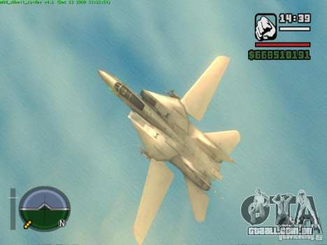 F 14 A TOMCAT para GTA San Andreas vista direita