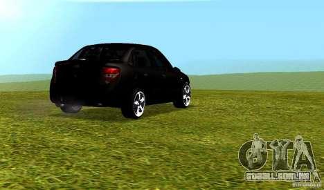 LADA Granta v 2.0 para GTA San Andreas vista traseira