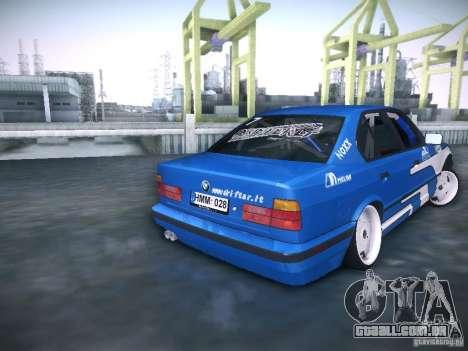 BMW E34 Drift para GTA San Andreas traseira esquerda vista