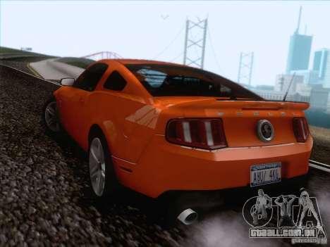 Ford Shelby Mustang GT500 2010 para GTA San Andreas vista interior