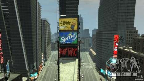 Time Square Mod para GTA 4 por diante tela