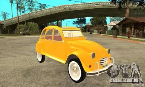 Citroen 2CV para GTA San Andreas vista traseira
