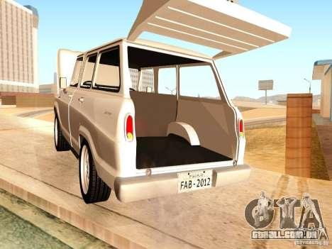 Chevrolet Veraneio de Luxo 1973 para GTA San Andreas vista interior