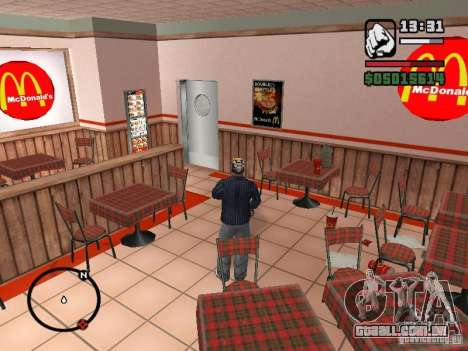 Mc Donalds para GTA San Andreas décima primeira imagem de tela