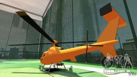 Helicopter From NFS Undercover para GTA 4 vista direita