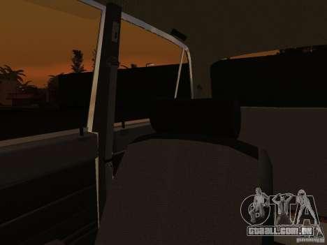 VAZ 2106 polícia v 2.0 para GTA San Andreas vista superior