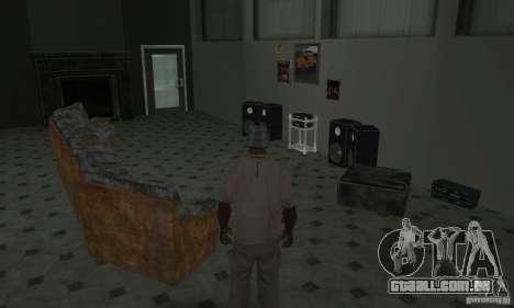 Novos esconderijos interiores para GTA San Andreas twelth tela