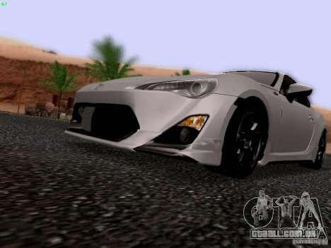 Toyota 86 TRDPerformanceLine 2012 para GTA San Andreas vista interior
