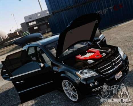 Mercedes-Benz ML Brabus 2009 para GTA 4 traseira esquerda vista