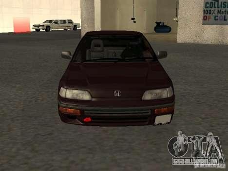 Honda Civic CRX JDM para GTA San Andreas vista superior