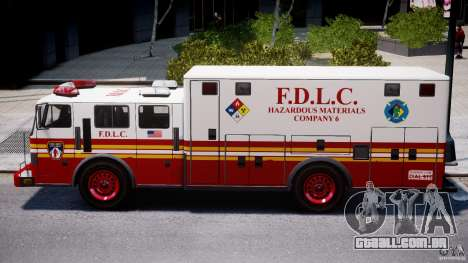 LCFD Hazmat Truck v1.3 para GTA 4 vista interior