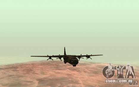 C-130 From Black Ops para GTA San Andreas traseira esquerda vista