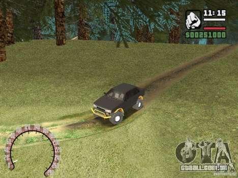 Vaz 21099 4 x 4 para GTA San Andreas vista traseira