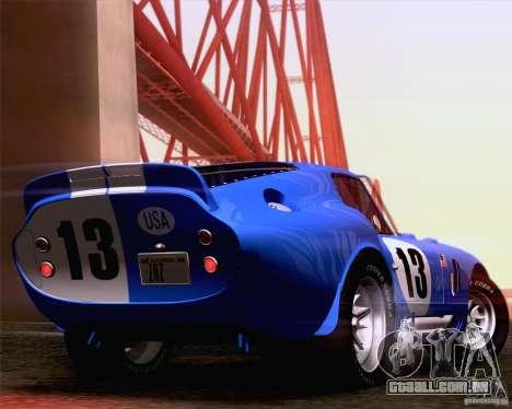 Shelby Cobra Daytona Coupe 1965 para GTA San Andreas vista direita