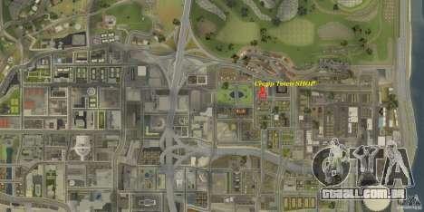 Cropp Town SHOP para GTA San Andreas por diante tela