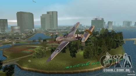 WW2 War Bomber para GTA Vice City deixou vista