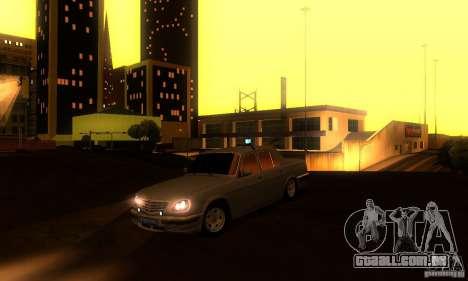 GAZ Volga 31105 advogado para GTA San Andreas vista superior