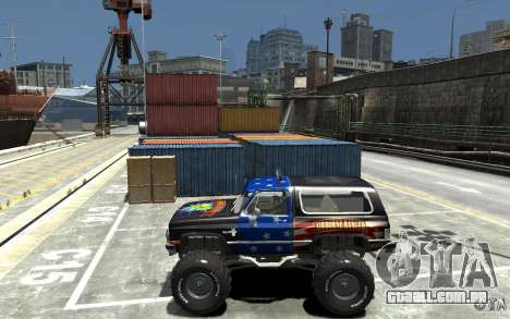 Chevrolet Blazer K5 1986 Monster Edition para GTA 4 esquerda vista