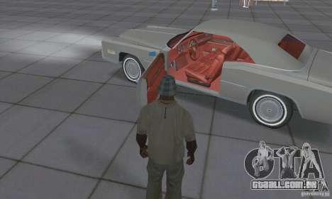 Cadillac Eldorado Convertible 1976 para GTA San Andreas vista interior