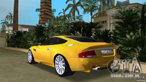 Aston Martin V12 Vanquish 6.0 i V12 48V v2.0 para GTA Vice City vista traseira esquerda